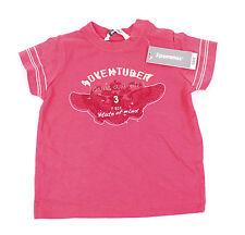 3POMMES Wild Kinder Shirt Gr 80 86 Koralle Rot Mädchen Jungen T-Shirt Baby NEU