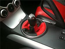 Se adapta a Mazda Rx8 Gear Polaina Cambio Bota 2 Tono Negro Rojo