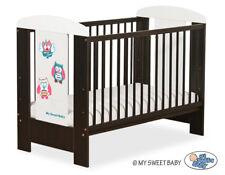 Babybett / Kinderbett Eulen Bigi Zibi & Adele + Matratze 120 x 60cm / 7 Farben