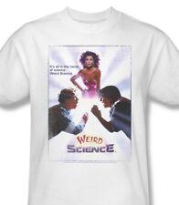 Weird Science T-shirt Movie Poster retro 1980's 100% cotton white tee UNI516