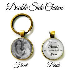 Personalised Double Sided Keyring Mum Nan Nanny Nanna Birthday Mothers Day Gifts