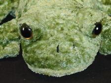 LIFELIKE GREEN BULLFROG PLUSH HAND PUPPET STUFFED ANIMAL TOY