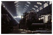 ATSF Atchison Topeka Santa Fe Railroad Boilers In Loco Shops Silver Halide Photo