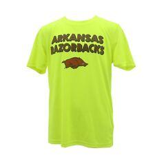 Arkansas Razorbacks Kids Youth Size NCAA Athletic T-Shirt New With Tags Neon