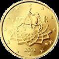 ITALIE - pièce 50 cts d' euro 2002 - TTB