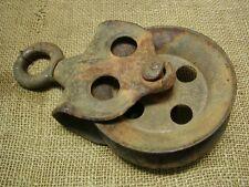 Vintage Cast Iron Pulley > Farm Wheel Antique Old 6294
