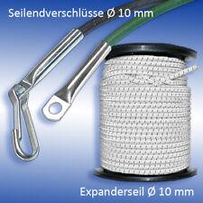 Expanderseil Ø 10 mm weiß mit schwarzem Kennfaden für PVC Plane und Anhänger