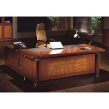 Senato Large Executive office desk 3 piece set Medium Oak 1.6m 1.8m or 2.0m
