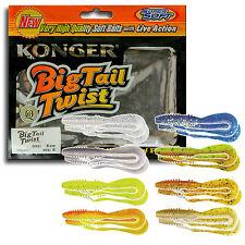 Fishing Soft Lure Bait Big Tail Ripper Twister Shad Grub 8cm 3'' Jig Head Kopyto