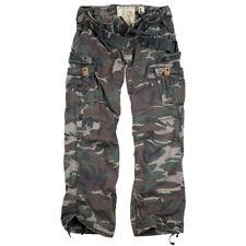 SURPLUS Premium Vintage Trousers Cargo Army Pants Mens Work Combats Woodland