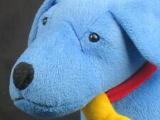 "BIG BLUE DOG Poseable LEGS  RIGHT COLOR YELLOW BONE PLUSH STUFFED ANIMAL TOY 16"""