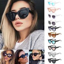 Luxury Ladies Womens Oversized Cat Eye Sunglasses Vintage Style Retro Shades DL