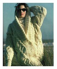Knitting pattern ladies jacket cardigan Aran Vogue design also as a PDF download
