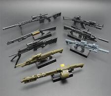 Escala 1/6 4D HK416 AK74 MG62 Pistola De Montaje Modelo Puzzle arma para Figura De Acción
