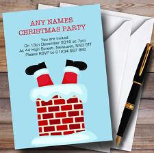 SANTA dal camino Personalizzato Inviti Festa Di Natale