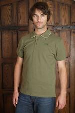 Puffa Rushton da uomo tradizionali Pique Polo Shirt Green ERA £ 30.99