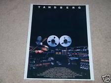 Tandberg Entire Line Ad,1985,TD20a,3012,3018,3001