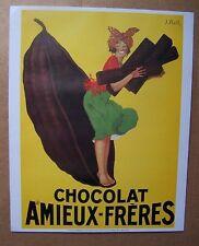 A17) affiche publicité repro CHOCOLAT AMIEUX FRERES
