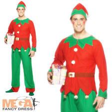 Elf Mens Fancy Dress Santa's Helper Festive Xmas Christmas Adults Costume Outfit