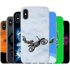 dessana Motocross TPU Silikon Schutz Hülle Case Handy Tasche Cover für Apple