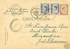 Romania 1947 inflation King Mihai I stationery,uprated