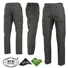 Pantaloni Pants MFH Ripstop Teflon Lycra Impermeabili Caccia Outdoor Militare OD