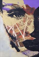 Sticker mural autocollant déco : Visage - réf 1389 (16 dimensions)