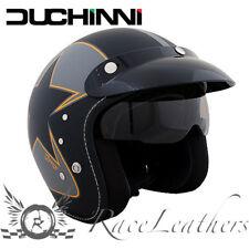 DUCHINNI D501 GARAGE NERO ARANCIONE CASCO APERTO DA MOTO MOTOCICLETTA + PARASOLE
