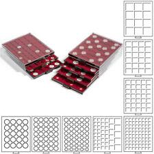 LEUCHTTURM Münzbox Kassette Einlage Schublade Box MB Münzen Sammelbox Kapseln €