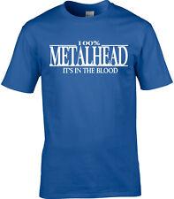 Metal Mens T-Shirt - 100% Metalhead It's In The Blood - Music Gift Rocker Heavy