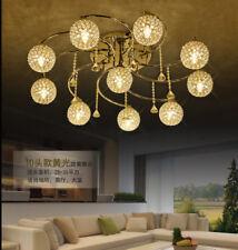LED K9 Crystal Ceiling Lighting Chandelier Pendant Lamp Bedroom Ceiling Fixtures