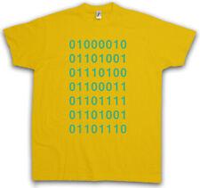 BINARY CODE T-SHIRT Big Silicon TV Bang Series Valley 01 Alphabet Theory Binär