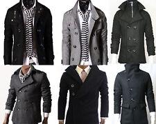 GL FASHIONS Men's Smart Casual Trench Coat/Jacket Black/Grey