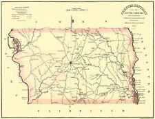 Old County Map - Chester South Carolina Landowner - Mills 1825 - 30 x 23