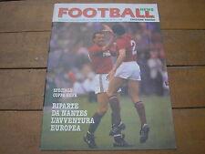 FOOTBALL NEWS EDIZIONE TORINO TORO ANNO 1 NUMERO 1 12/9/1986