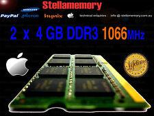 8GB Memory 2 x 4GB DDR3 1066mhz  Apple Mac Book MacBook Pro Ram sodimm pc3-8500