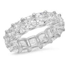Make Your Own Asscher Cut diamond Eternity Band! Custom metal & diamond size
