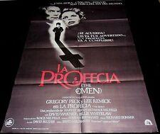 1976 The Omen ORIGINAL SPAIN POSTER Gregory Peck Richard Donner Antichrist