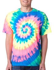 Gildan Tie Dye Adult Neon Pigment 100% Cotton Dyed Crewneck Spiral T-Shirt. 69