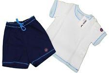 Completo da bambina Arena celeste t-shirt e short junior manica corta girocollo