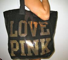 Victoria Secret Pink Bling Oversize Tote Weekender Beach travel cruise  bag
