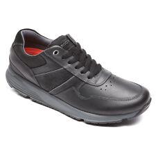Rockport Men's V80320 TruStride Walk This Way Black Leather Lace Up Sneaker Shoe