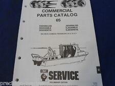 1991, COMMERCIAL 65 Parts Catalog, Evinrude Johnson OMC