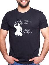 Oficial de policía por día Ninja De Noche Personalizado Camiseta