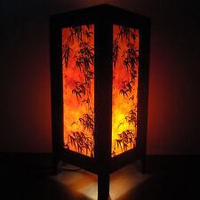 Asian Oriental Dawning Sunset Japanese Art Bedside Desk or Table Lamp Shades