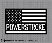 Ford F-250 F-350 Powerstroke Superduty Truck American flag diesel sticker decal