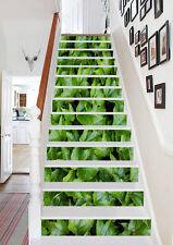3D Green plants Stair Risers Decoration Photo Mural Vinyl Decal Wallpaper AU