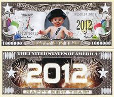 HAPPY NEW YEAR 2012 1 MILLION DOLLARS COLOR NOVELTY MONEY - FUN ITEMS