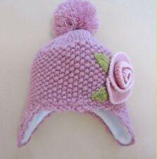 Hand Knitted Baby Toddler Kids Girls Child Beanie Peru Winter Hat Fleece Lined