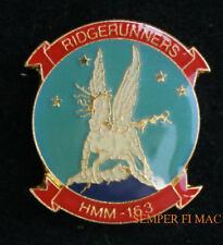 HMM-163 RIDGERUNNERS EVIL EYES US MARINES PIN MCAS MIRAMAR TUSTIN CH46 SEAKNIGHT